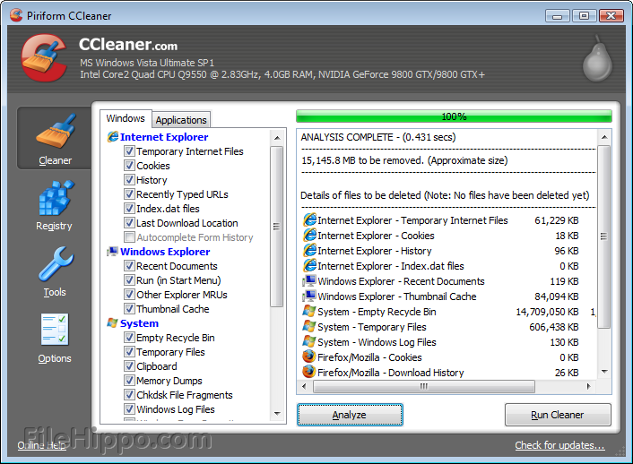 CCleaner 3.13.1600
