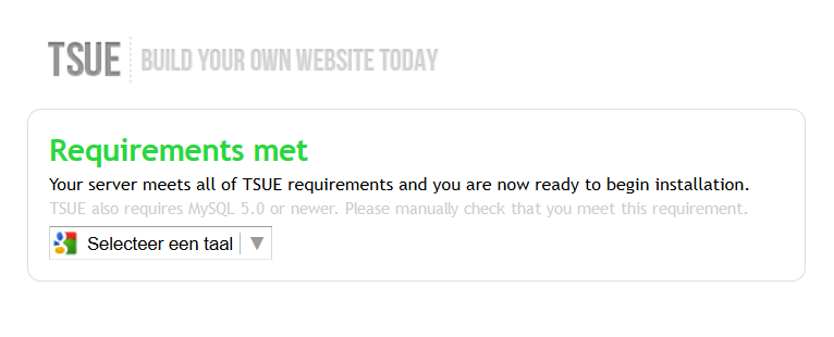 TSUE 2.x Server Requirements Test Script
